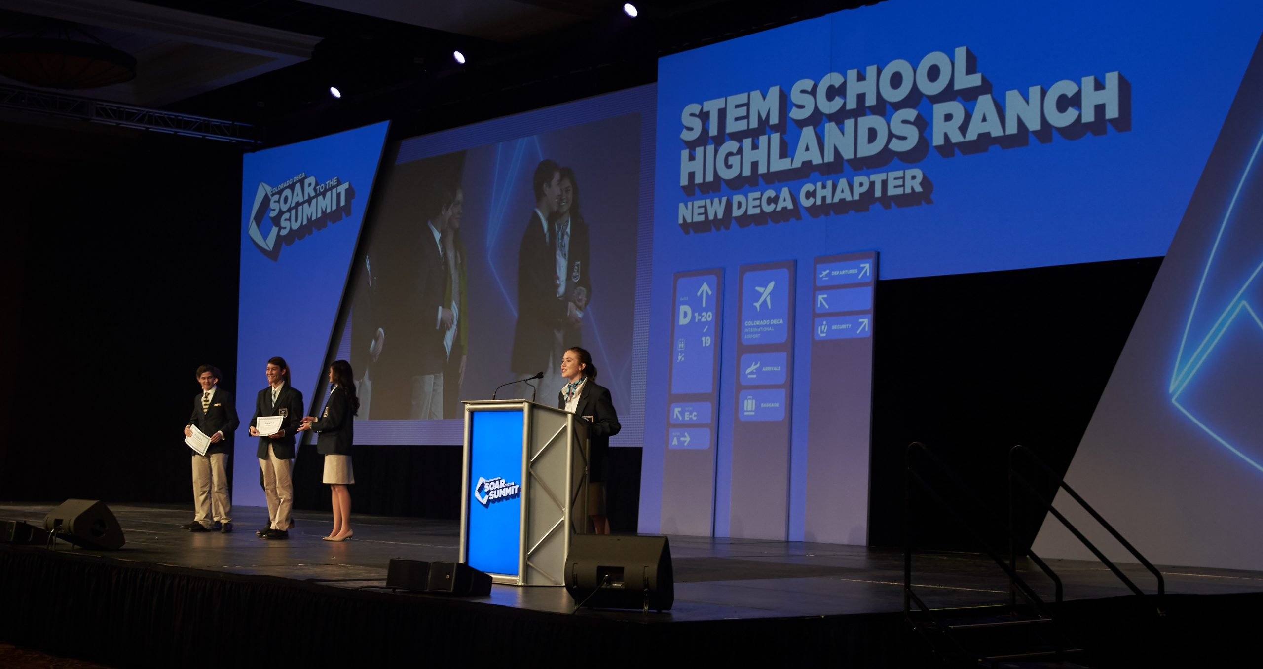 Students at DECA Summit Conference