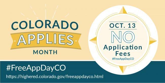 Colorado Free Application Day Image