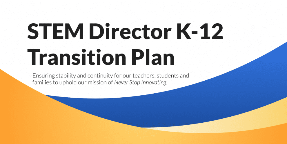 STEM Director K-12 Transition Plan Image