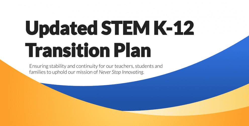 STEM K-12 Transition Plan Image