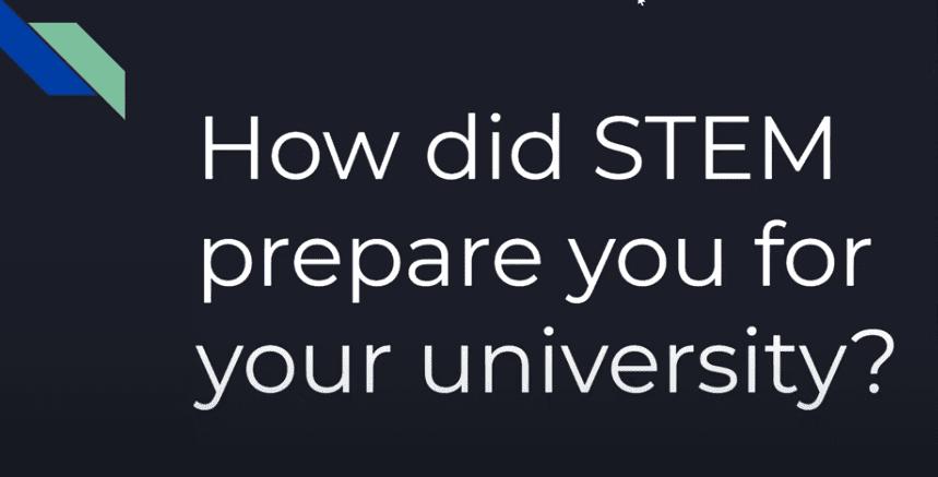 STEM College Advice Alumni Panel