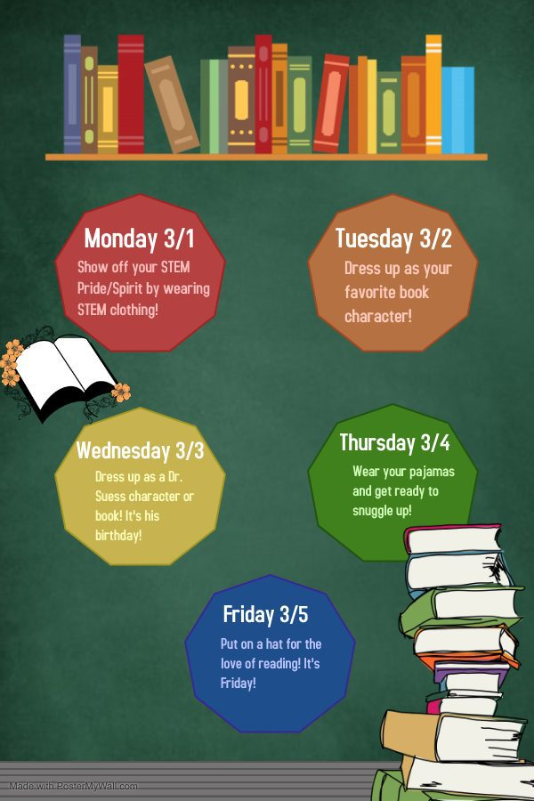 Keep Calm and Read On Poster Spirit Week