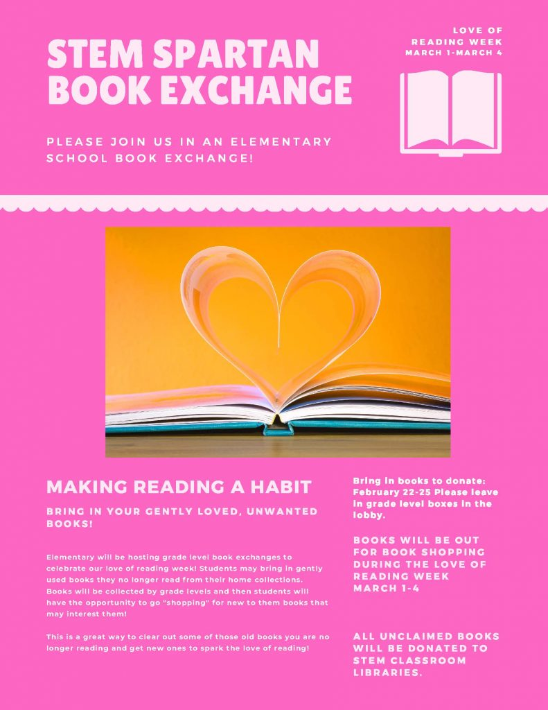 Love of reading week March 1-March 4