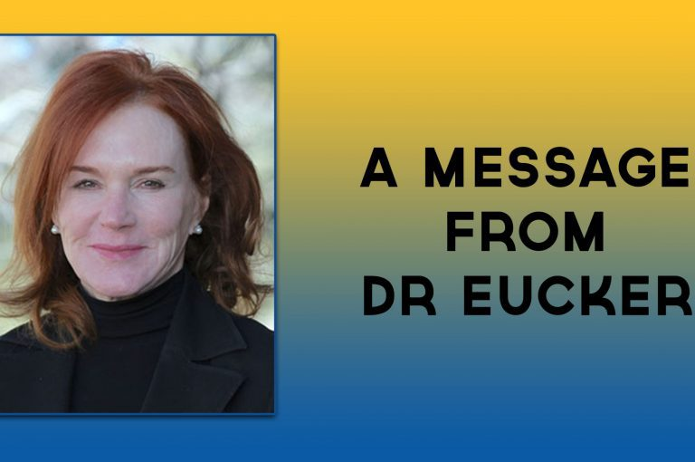 A message from Dr Eucker