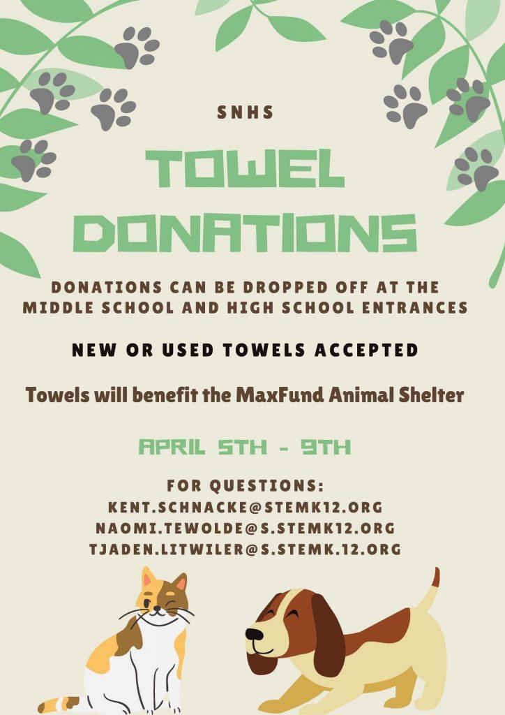 SNHS Donation Flier