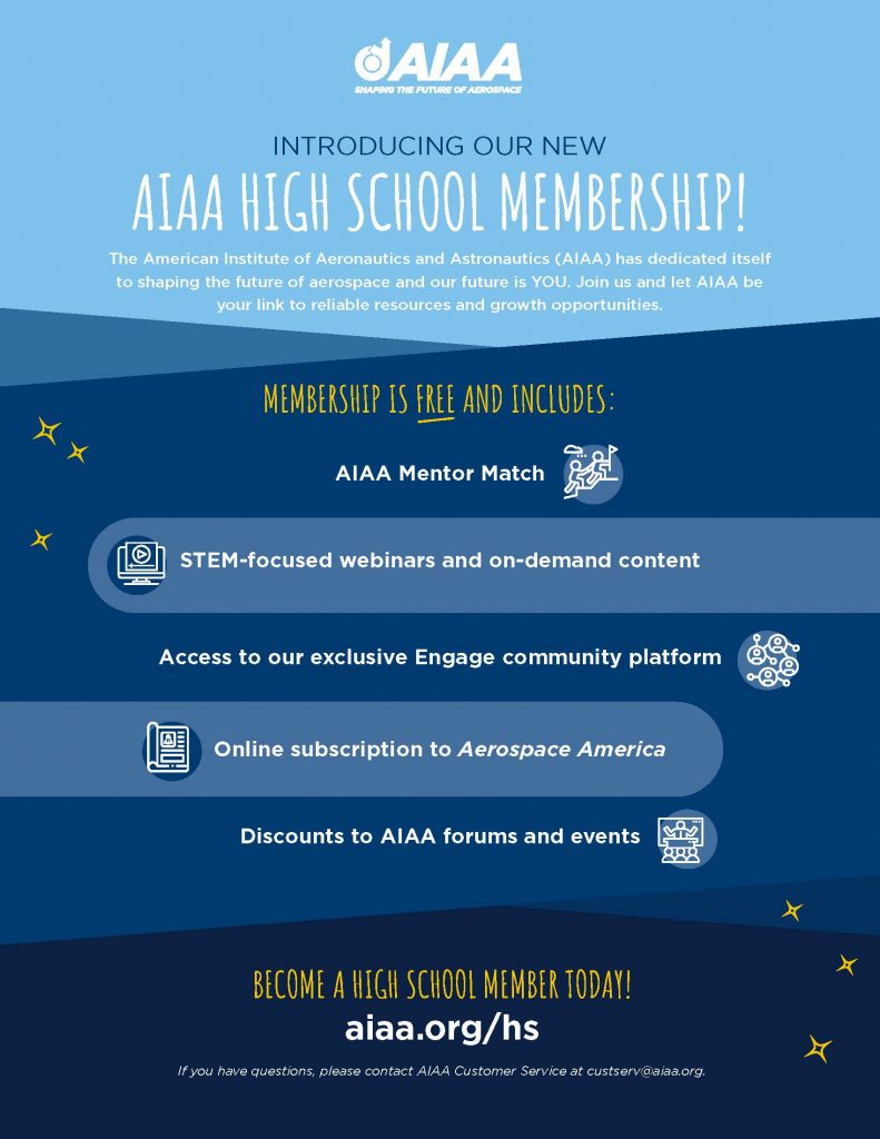 AIAA High School Membership Flier