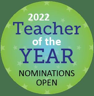 CDE Teacher of the Year Logo